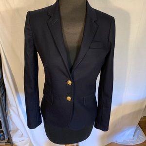 J crew wool blend schoolboy fit blazer. Navy 0